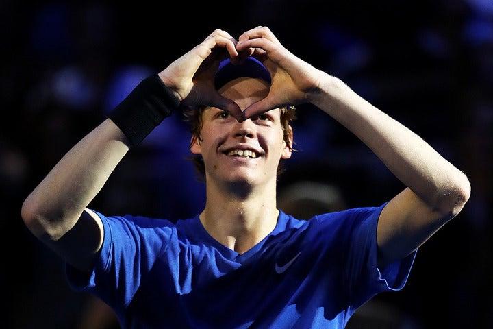若手選手の最終戦「ネクストジェンファイナルズ」で優勝した18歳、イタリアのシナー。(C)Getty Images