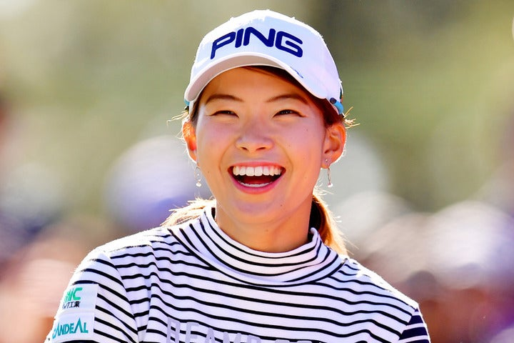 2019年の女子ゴルフツアーに旋風を巻き起こした渋野。(C)Getty Images