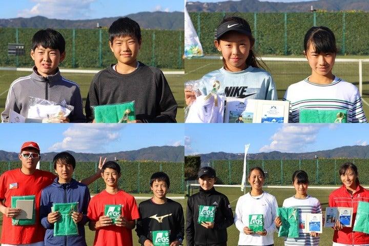 各種目の優勝・準優勝選手。写真:グラスコート佐賀テニスクラブ