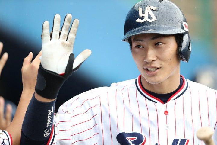 22歳の廣岡は、エスコバーとのレギュラー争いを歓迎する。写真:日刊スポーツ/朝日新聞社