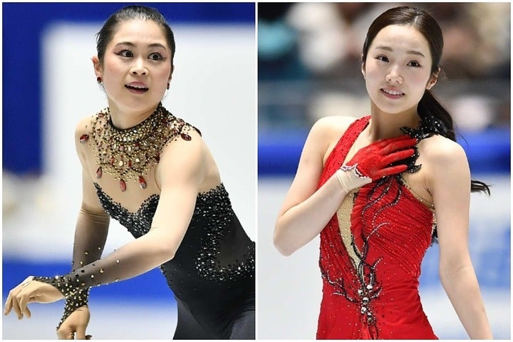 """ババリアン・オープンで""""金銀フィニッシュ""""を達成した本田(右)と宮原(左)。表彰式後の2ショット写真が公開された。(C)THE DIGEST"""