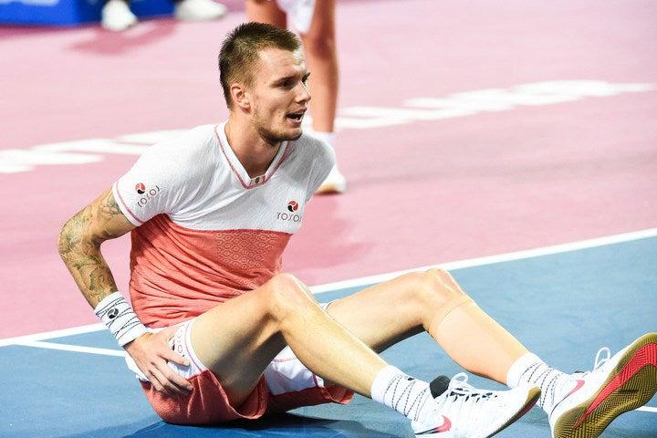 カザフスタン期待の22歳、バブリク。変則的なプレーが特徴で、近年着実に成長を見せるテニス界期待の若手プレーヤーだ。(C)Getty Images