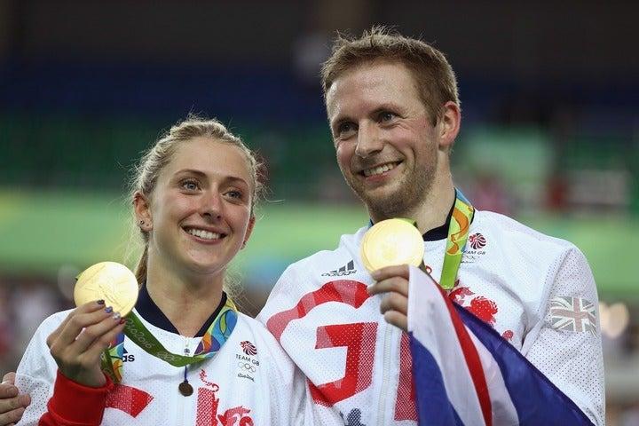 ローラ(左)&ジェイソン(右)のケニー夫妻。ふたり合わせて五輪金メダルが10個という、まさに「ゴールデン・カップル」だ。(C)Getty Images