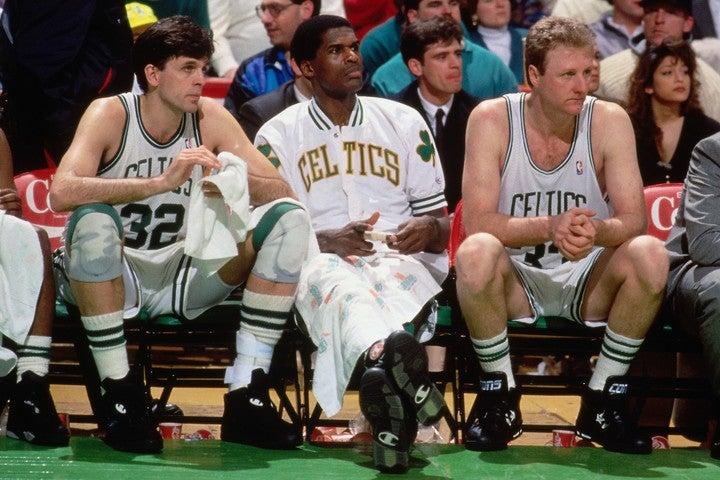 """バード(右)、マクヘイル(左)、パリッシュ(中央)の3人が""""ビッグ3""""のパイオニアだった。(C)Getty Images"""