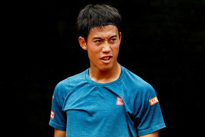 昨年12月で30歳を迎えた日本のエース、錦織圭。右ヒジの故障から復帰を目指し、クレーコートでの練習に励んでいる。(C)Getty Images