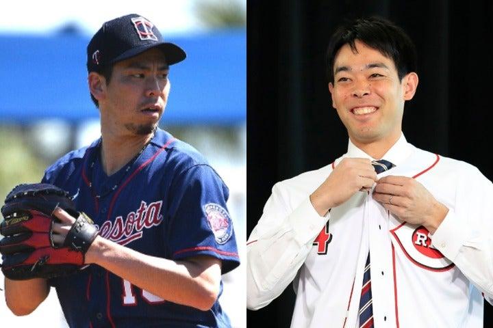 """前田(左)の32歳誕生日に、秋山(右)が""""祝福メッセージ動画""""を送った。(C)Getty Images"""