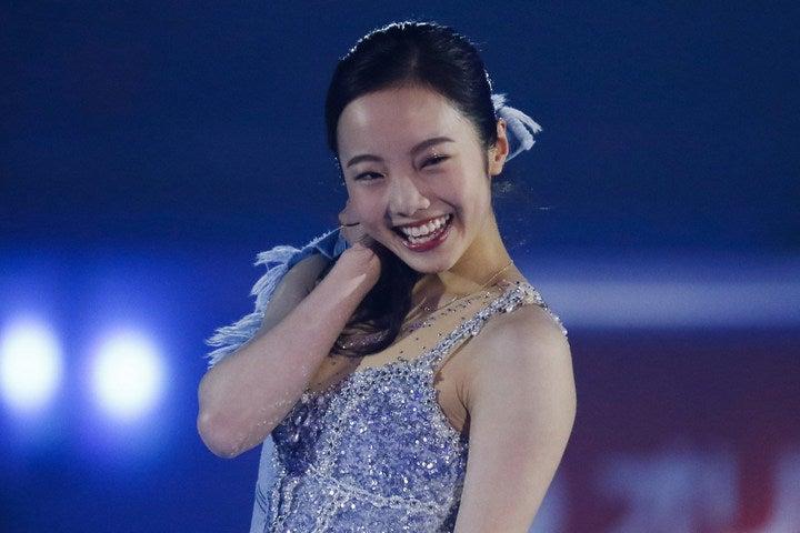 4月から大学生になった本田真凜。今回は妹の望結、紗来とインスタライブを実施し、ファンを喜ばせた。(C)Getty Images