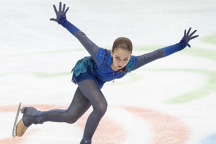 多彩な4回転ジャンプを操る15歳、アレクサンドラ・トゥルソワ。(C)Getty Images