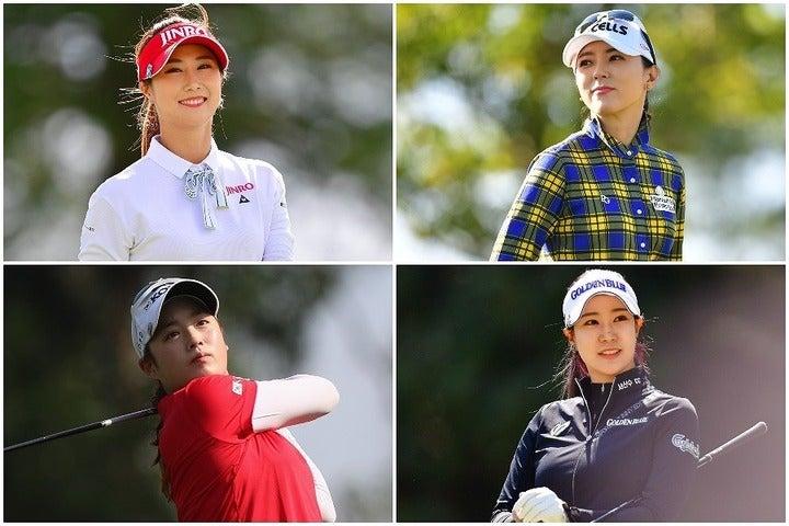 左上から時計回りでキム・ハヌル、ユン・チェヨン、ユ・ヒョンジュ、パク・キョルの美女カルテットが勢揃い。(C)Getty Images