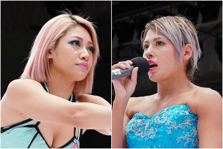 未来の女子プロレスを担うはずだった木村さん(左)。ジュリア(右)とはライバル関係だった。写真:山崎賢人(THE DIGEST写真部)