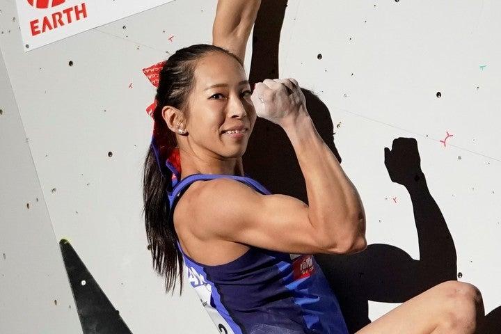 東京五輪内定している野口が、クライミングジムを救済すべくチャリティ協力を呼び掛けている。(C)Getty Images