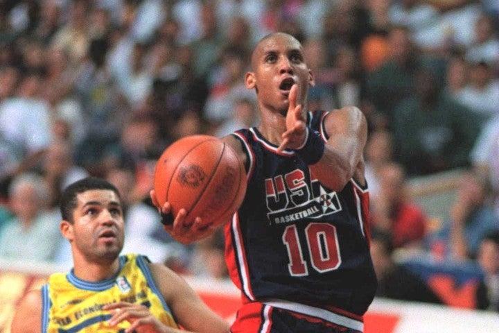 ミラーは94年の世界選手権(写真)に続いて、アメリカ代表に選出。五輪ではチーム3位の平均11.4点をあげて金メダル獲得に貢献した。(C)Getty Images