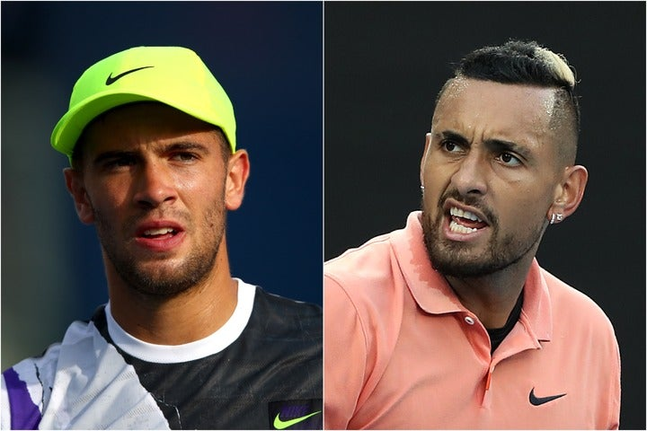 チョリッチ(左)の発言に対し怒り心頭のキリオス(右)。(C)Getty Images