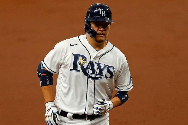 """筒香を苦しめる""""MLB平均""""の150キロの速球。これをクリアしなければ成績浮上は見込めない。(C)Getty Images"""