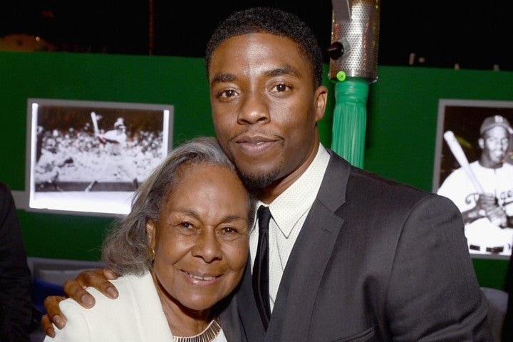 """『42』でロビンソンを演じたチャドウィック氏が""""記念日""""に逝去した。左はロビンソンの妻レイチェルさん。(C)Getty Images"""