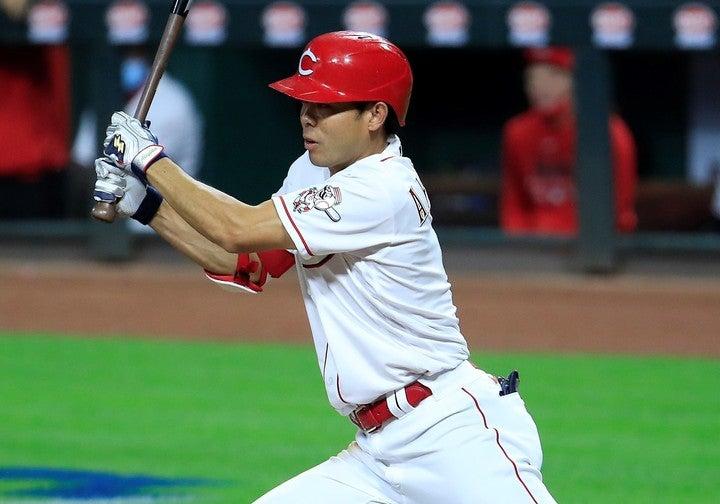 秋山は最近9試合で打率.379、出塁率.514と絶好調だ。(C)Getty Images