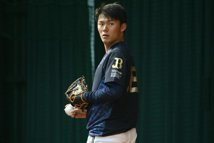 オリックス山本は9月に4勝、防御率0.73という戦績で、月間MVP初受賞した。写真:滝川敏之