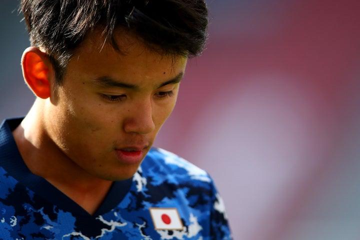 日本代表のカメルーン戦でも途中出場だった久保。フルタイムでプレーする日はいつ来るのか。(C)Getty Images