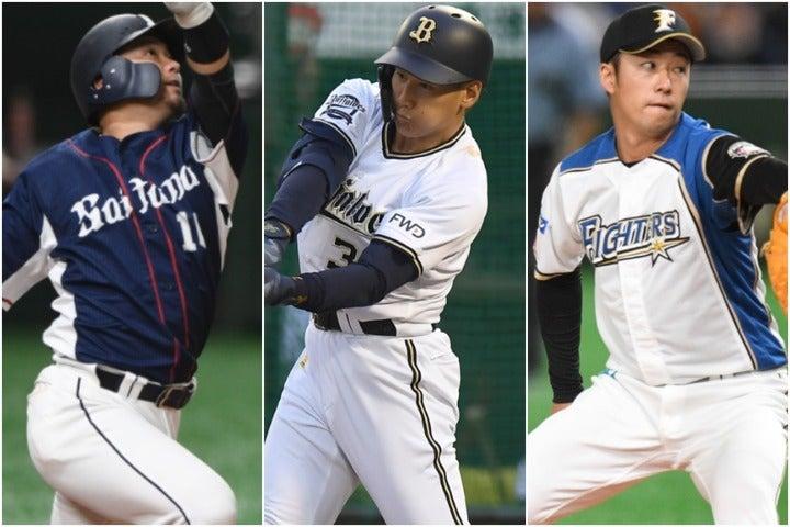 森(左)昨年、吉田正(中)は今年、首位打者に輝いた。一方、鳴り物入りでプロ入りした斎藤(右)は期待を裏切っている。写真:徳原隆元、産経新聞社