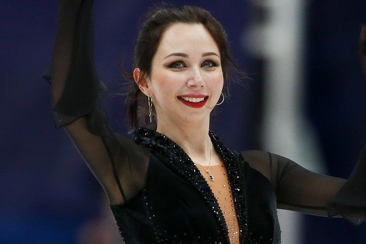 先月のGPロシア大会で初優勝を飾っていた23歳のトゥクタミシェワ。(C)Getty Images