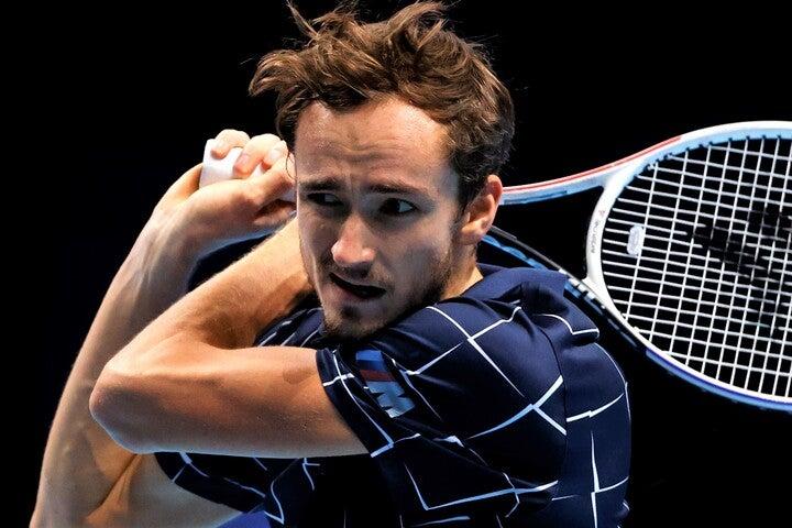 型にはまらないスタイルのメドベージェフは、ATPファイナルズでトップ3を全員倒して優勝した。(C)Getty Images