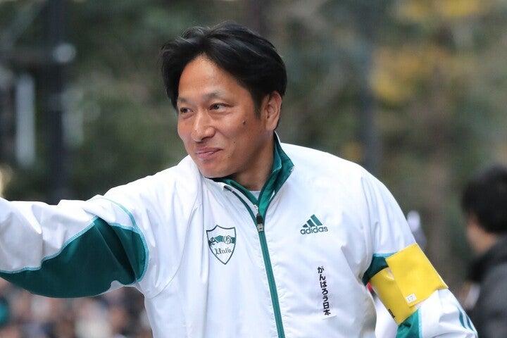 復路優勝を飾った青山学院大の指揮官、原監督。写真:産経新聞社