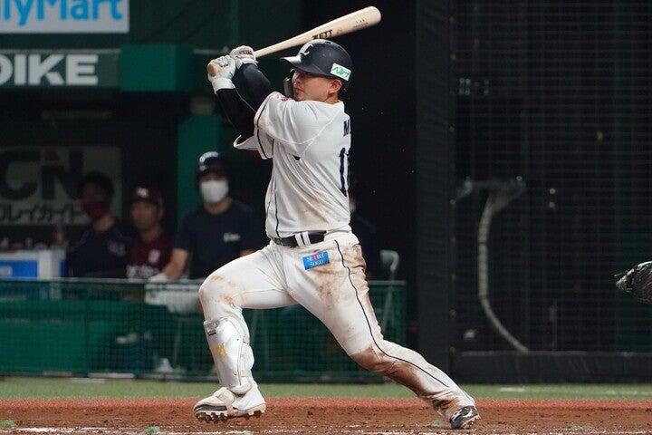 19年に首位打者を獲得し、MVPにも輝いた森だが、昨季は精彩を欠いた。写真:金子拓弥(THE DIGEST写真部)