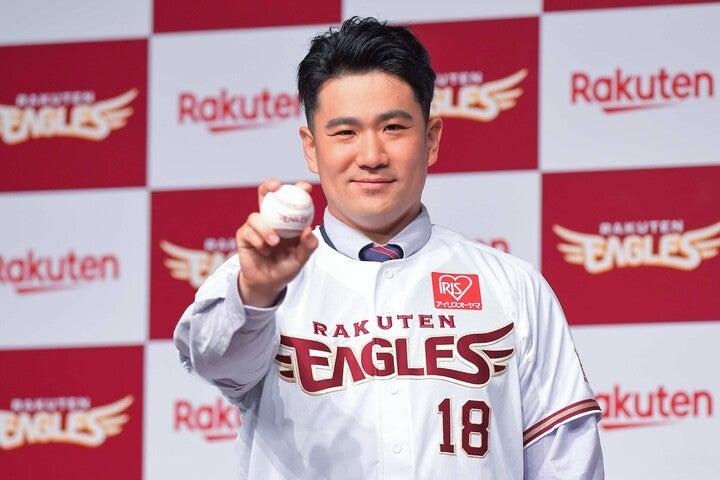 田中の復帰で楽天に完成した5本柱に注目する山崎氏。仮に2位だったとしても、CSでならソフトバンクを倒せるかも、と言う。写真:金子拓弥(THE DIGEST写真部)