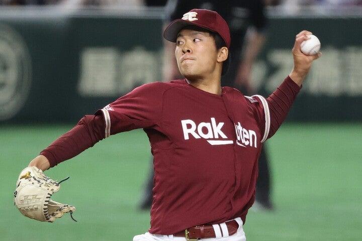 ドラフト1位入団の早川を、早稲田大の先輩でもある和田になぞらえて語った谷繁氏。田中と並び楽天躍進の原動力になりそうだ。写真:山手琢也