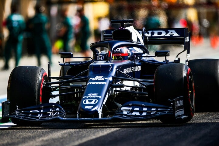 角田は「FP2でのラップは、完璧ではなかったものの、良かったと思います」とこの日の走りを振り返った。(C)Getty Images
