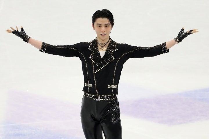 SPでは堂々たる演技を披露していた羽生だが、メダルの懸かったFSで精彩を欠いた。(C) Getty Images