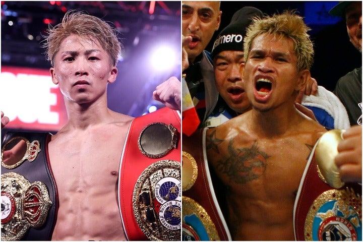 SNSなどで井上尚弥(左)に再三挑発を続けるカシメロ(右)。(C)Getty Images