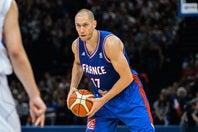 今季から琉球でプレーするティリ。フランス代表として、W杯や五輪の出場経験も持つ。(C)Getty Images