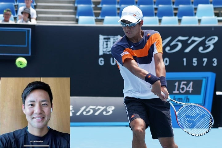 オンラインで取材に応じてくれた守屋。一時は自分のテニスを見失いかけたが、新たなプレーが形になりつつある今は、再び勝利への執念を燃やしている。写真:内田暁、THE DIGEST写真部