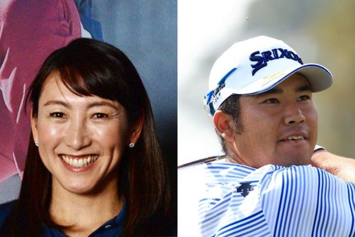 多数のアスリートと交流がある杉山さん。今回は松山英樹との写真を公開した。(C)Getty Images