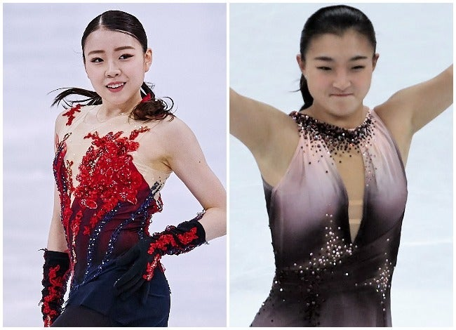女子シングルSPに登場した紀平と坂本。(C)Getty Images