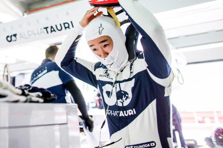 初めて走るサーキットにいかに対応するのか。角田の走りに注目が集まっている。(C)Getty Images