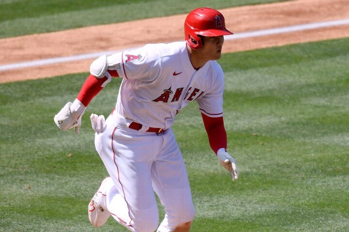第1打席に圧巻のスピードを披露して二塁打を記録した。(C)Getty Images