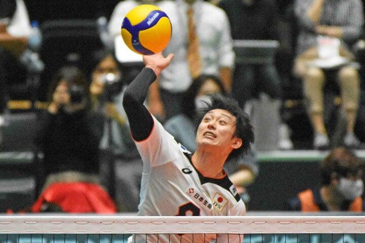 柳田は「FIVBネーションズリーグ(VNL)」に出場する日本代表男子メンバーから漏れた。写真:北野正樹