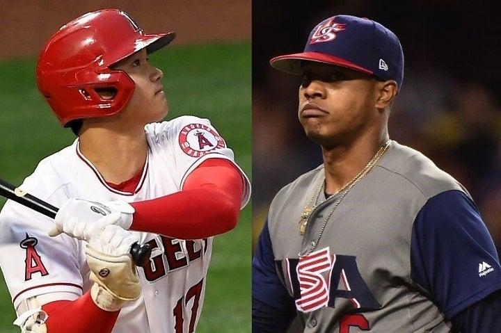 連日のように活躍を続ける大谷(左)にメッツの右腕ストローマン(右)も賛辞を送っている。(C)Getty Images