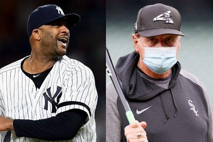 ラルーサ(右)の言動にヤンキースを支えたサバシア(左)が怒りを露わにした。(C)Getty Images