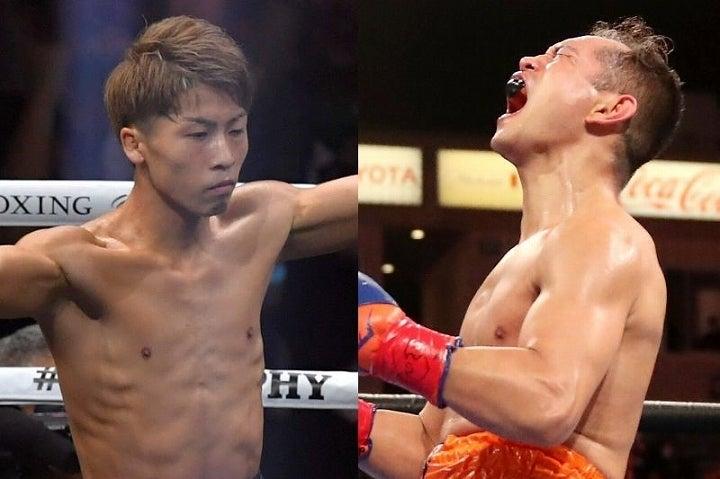 バンダム級で絶対的な強さを誇る井上(左)とのリマッチを明言したドネア(右)。19年以来の対決が実現すれば、話題沸騰となるのは必至だ。(C)Getty Images