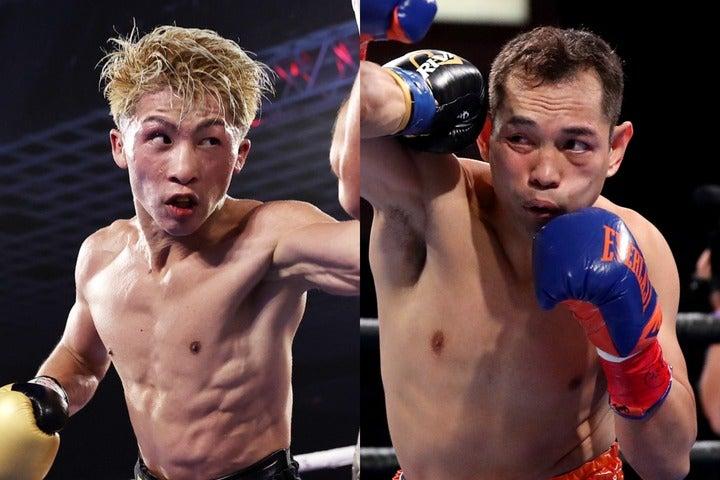 一昨年のWBSS決勝では判定勝ちを収めている井上(左)。38歳ドネア(右)の戦いぶりに感嘆の声を上げた。(C)Getty Images