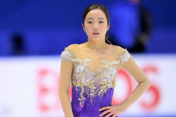 モデル顔負けの被写体ぶりを披露した本田真凜。(C)Getty Images
