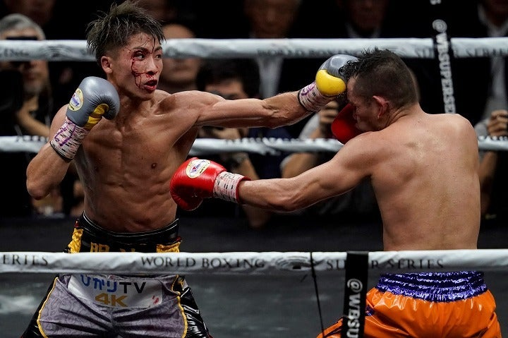 ハードパンチャーとして名高いドネアとの攻防戦も耐え抜いた井上は、ボクシング界屈指のタフガイだが、リングでは絶対はない。(C)Getty Images