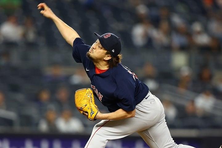 ヤンキース打線を向こうに回し、果敢に仕掛けて見事ねじ伏せた澤村。チームメイトたちからも賛辞が集まった。(C)Getty Images