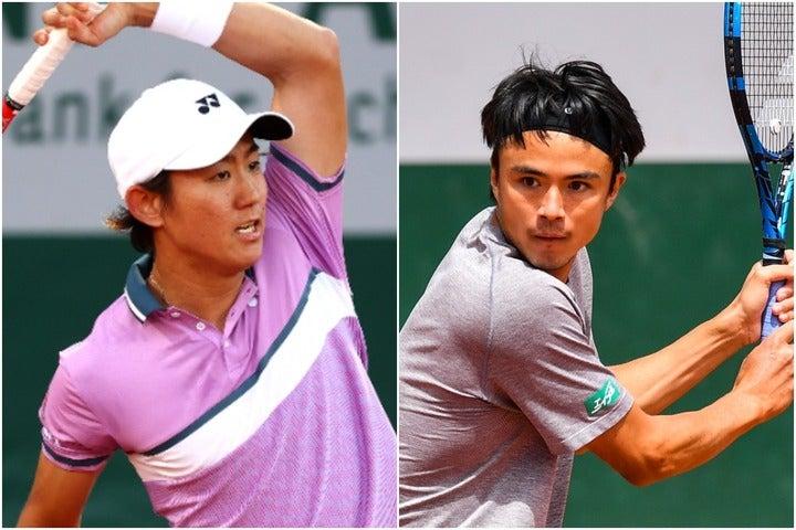 現代テニスに押し寄せる変化を肌で感じる西岡(左)とダニエル(右)。(C)Getty Images