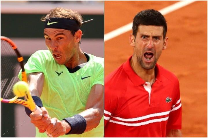 様々な記録がかかるナダル(左)とジョコビッチ(右)の全仏オープン準決勝。(C)Getty Images