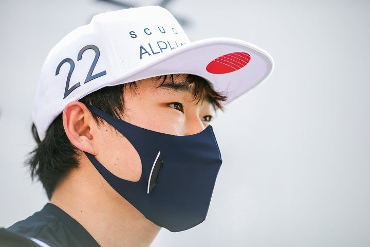 昇り調子の角田は、フランスGPでの初日での走りに手応えを掴んだようだ。(C)Getty Images