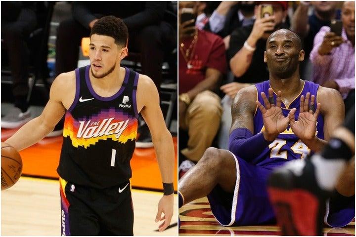 コメンテーターのスミスはブッカー(左)を「NEXTコビー」と称したが、これに元選手のパーキンスが意を唱えた(C)Getty Images